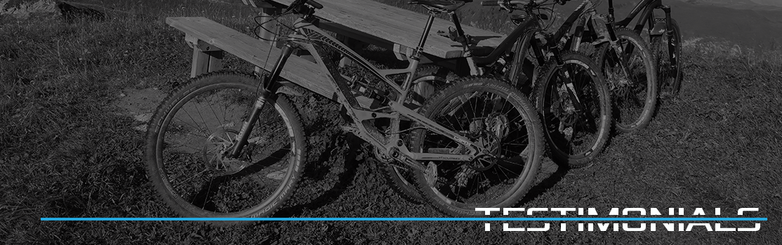 Blue Flow Wheels - Carbon Mountain Bike Wheels - Testimonials Banner