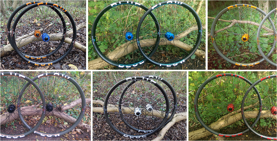 Blue Flow Wheels - Carbon Mountain Bike Wheels - Make them unique