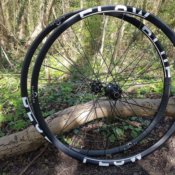 Blue Flow Wheels - Carbon Mountain Bike Wheels - White Graphics