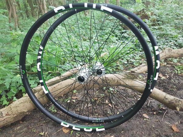 carbon mountain bike wheels handbuilt in nottingham, Blue Flow Wheels, MTB, Wheelsets, Mountain Bike Wheels, Custom built, Free UK Delivery
