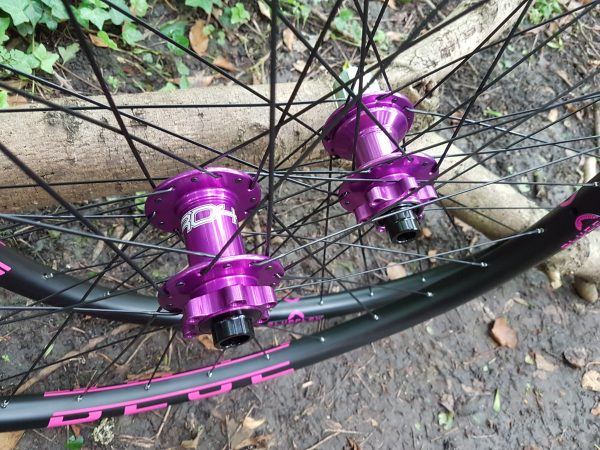 Purple Hope Pro 4 hubs, Blue Flow Wheels, MTB, Wheelsets, Mountain Bike Wheels, Custom built, Free UK Delivery