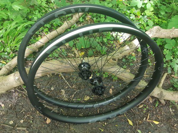 42mm wide carbon rims, Blue Flow Wheels, MTB, Wheelsets, Mountain Bike Wheels, Custom built, Free UK Delivery