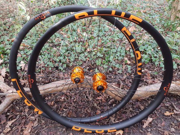 Carbon Plus wheels boost hubs, Blue Flow Wheels, MTB, Wheelsets, Mountain Bike Wheels, Custom built, Free UK Delivery
